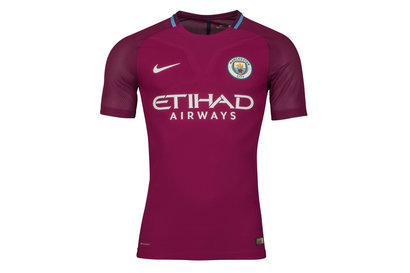 Manchester City 17/18 Away Players Match Day S/S Football Shirt