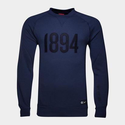 Manchester City 16/17 Authentic Crew Football Sweatshirt