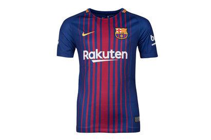 FC Barcelona 17/18 Kids Home Replica S/S Football Shirt