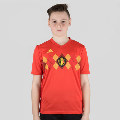 Belgium 2018 Kids Home S/S Replica Football Shirt