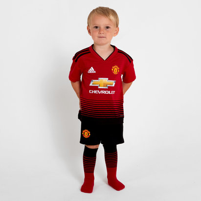 fca264c3a adidas Manchester United 18/19 Home Mini Kids Replica Football Kit ...