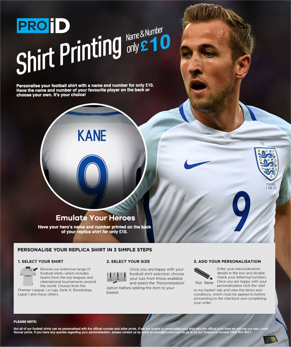 a24ccf8cd PRO iD - Football Shirt personalisation for only £9.99 at Lovell Soccer