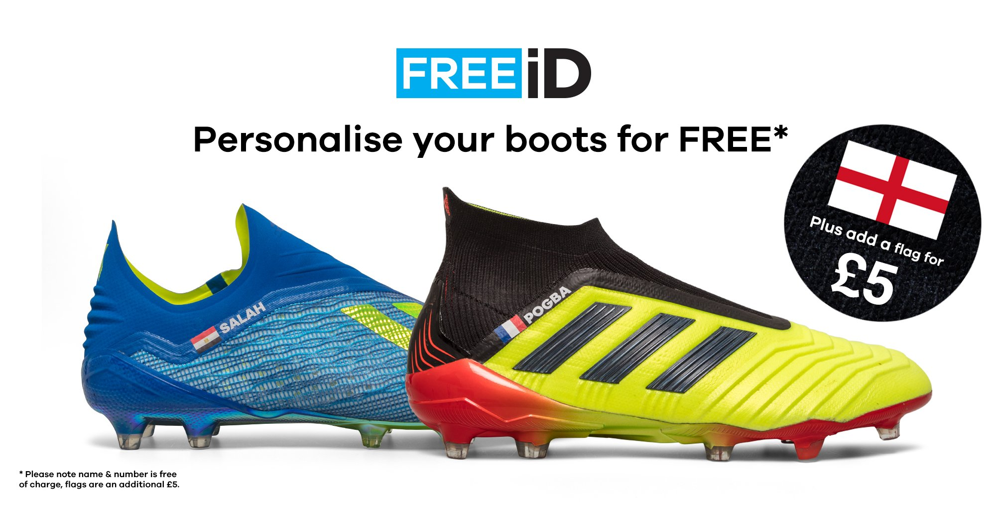 0ab941d54465 FREE iD - FREE Boot Personalisation, Plus add a Flag for £5