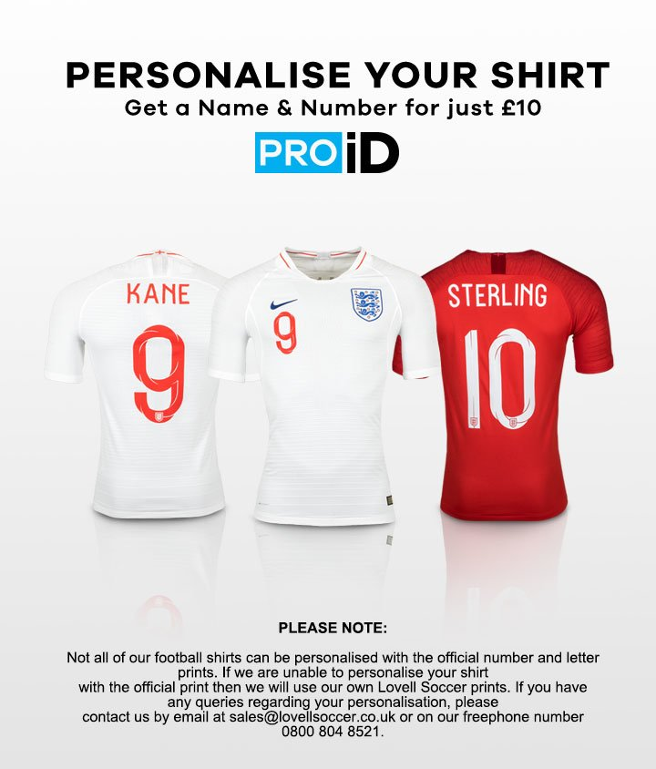 PRO iD - Shirt Personalisation for only £10, Plus add a