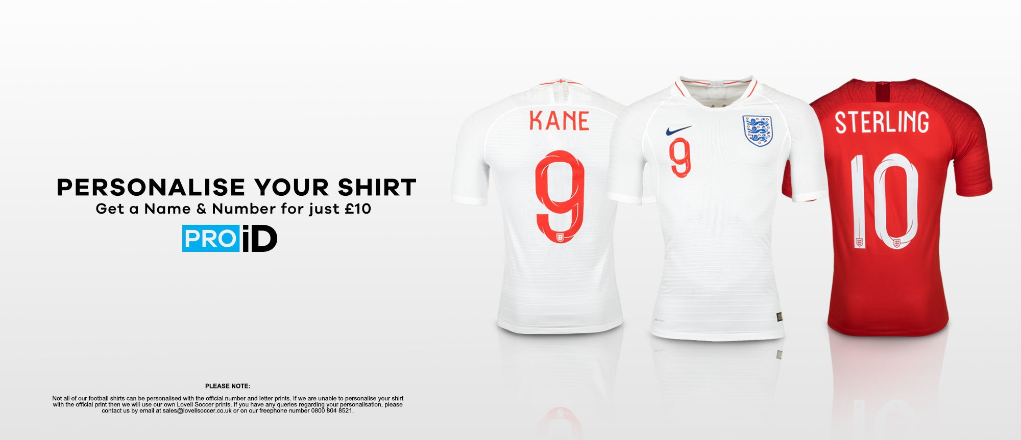 e61b841d5 PRO iD - Shirt Personalisation for only £10