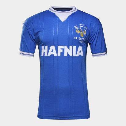 Score Draw Everton 1984 FA Cup Final Retro Football Shirt