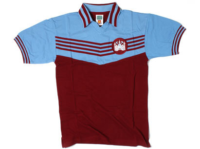 West Ham United 1976 European Cup Winners Cup Retro Football Shirt