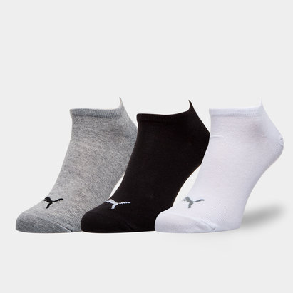 Puma Adult 3 Pack Invisible Trainer Socks