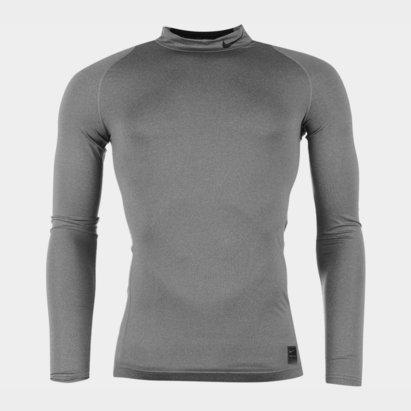 Nike Pro Core Mock Neck L/S T-Shirt Mens