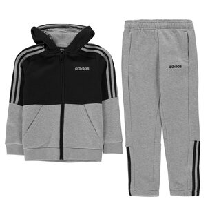 adidas Boys Essentials 3 Stripes Zip Tracksuit