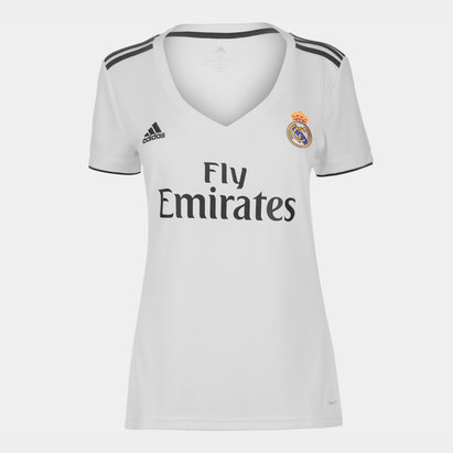 adidas Real Madrid 18/19 Home Replica Ladies Football Shirt