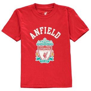 LFC Liverpool FC Kids Crest Football T-Shirt