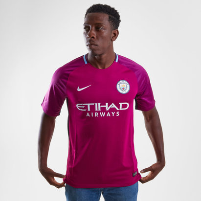 Nike Manchester City 17/18 Away Replica S/S Football Shirt