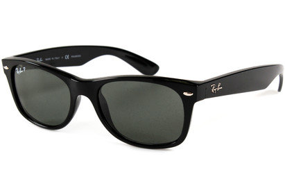 Ray-Ban 2132 Wayfarer Black Polarized Sunglasses