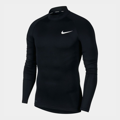 Nike Pro Core Mock Neck L/S T-Shirt Mens