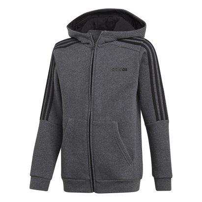 adidas Boys 3 Stripes Full Zip Track Top Hoodie