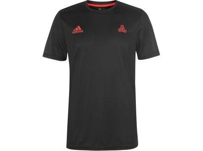 adidas Tango 3 Stripe T Shirt Mens