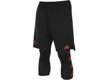 adidas Tango 2 Layer Training Shorts Mens