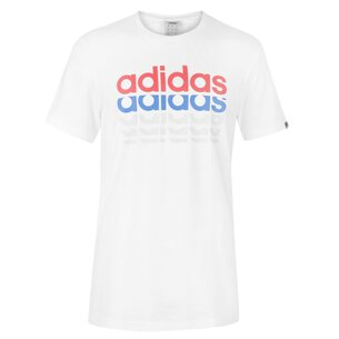 adidas Repeat Linear T Shirt Mens