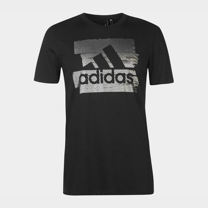 adidas Badge Of Sport Foil Print T Shirt Mens