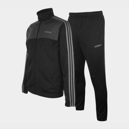 adidas 3 Stripe Basic Poly Tracksuit Mens