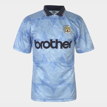 Score Draw Manchester City 89 Retro Football Shirt