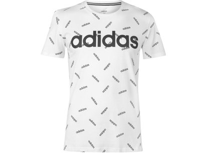 adidas Linea All Over Print T Shirt Mens