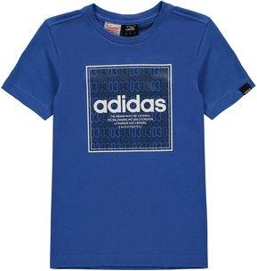 adidas Box Linea Texture QT T Shirt Junior Boys