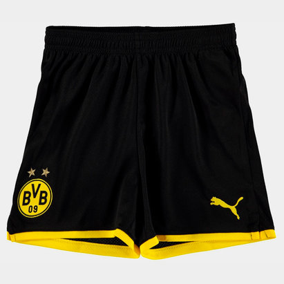 Puma Borussia Dortmund 19/20 Kids Home Football Shorts