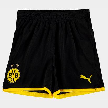 Puma Borussia Dortmund 19/20 Kids Home Football Shorts