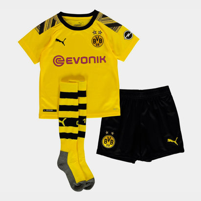 Puma Borussia Dortmund 19/20 Home Mini Kids Football Kit