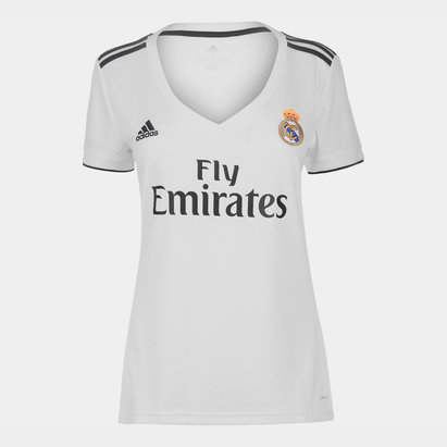 adidas Real Madrid 18/19 Home Replica Ladies Football Shirt