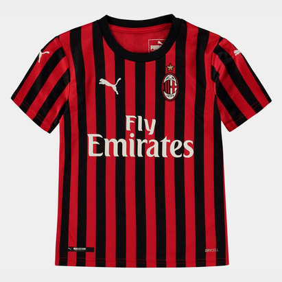 Puma AC Milan 19/20 Kids Home S/S Football Shirt
