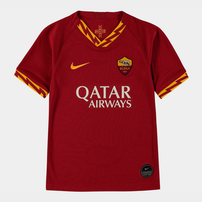 Nike AS Roma 19/20 Kids Home S/S Football Shirt