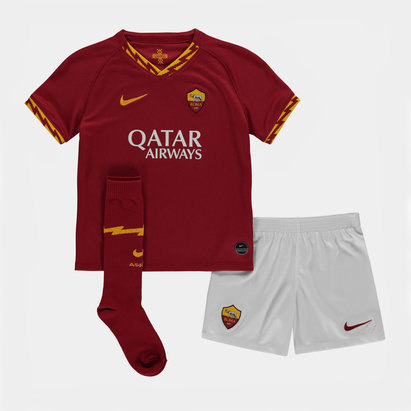 Nike AS Roma 19/20 Home Mini Kids Football Kit