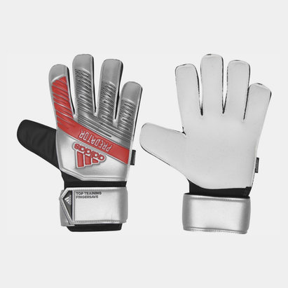 adidas Predator Training Finger Save Glove Silver Metallic Black