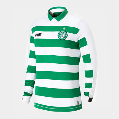 New Balance Celtic Long Sleeve Home Shirt 2019 2020 Junior