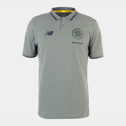 New Balance Celtic 19/20 Players Football Polo Shirt
