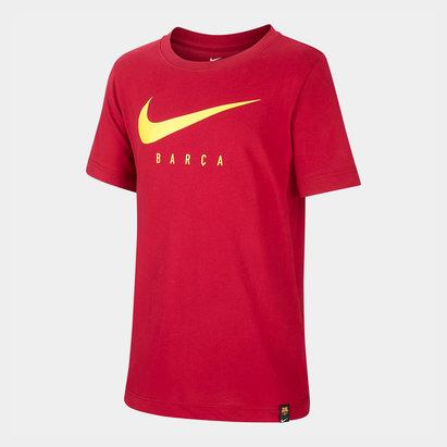 Nike FC Barcelona 19/20 Kids Swoosh Football T-Shirt
