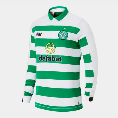 New Balance Celtic 19/20 Home L/S Football Shirt