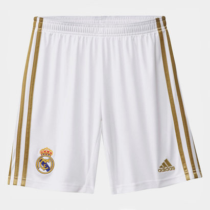 adidas Real Madrid 19/20 Home Kids Football Shorts