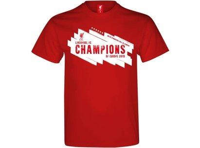 Source Lab Liverpool Champions of Europe T Shirt Mens