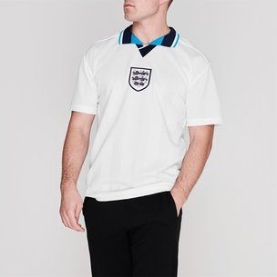 Score Draw England 96 Home Retro Football Shirt