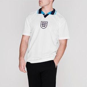 Score Draw England 96 Home Retro Football Shirt