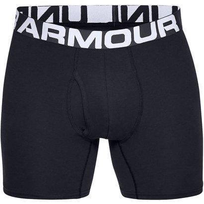 Under Armour Cotton 3 Pack Boxer Shorts Mens