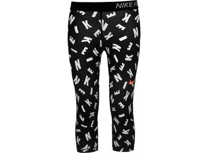 Nike Pro AOP Capri Tights Junior Girls