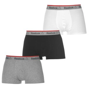 Reebok 3 Pack Ovett Trunks Mens