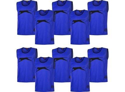 Slazenger 10 Pack Mesh Hi Viz Training Bibs Mens