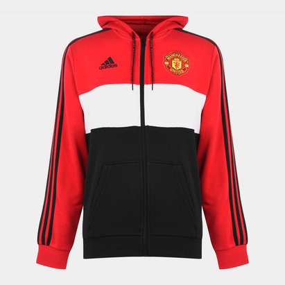 adidas Manchester United 19/20 Full Zip Hooded Football Sweat