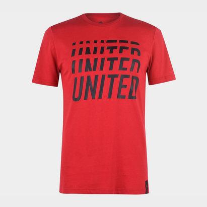 adidas Manchester United DNA T Shirt 2019 2020 Mens